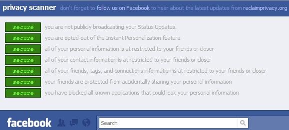 Fbps Facebook Privacy Scanner