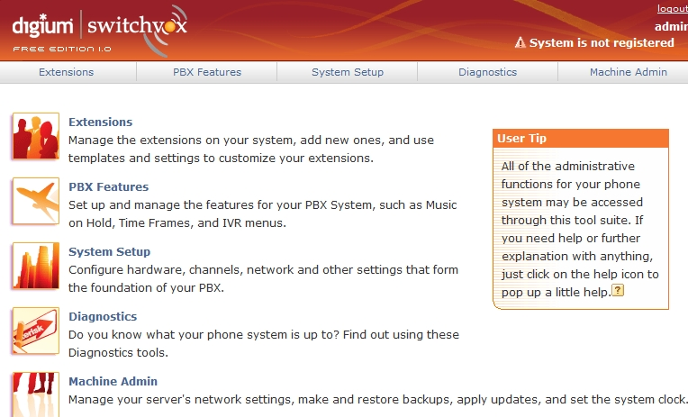 Switchvox How to setup a Free VOIP server using SwitchVox